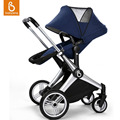 Babysing Baby Stroller Foldable Outdoor Strolling Pram Wide Seat Safety Off Road Strollers Infant Carriage Adjustable Pushchair