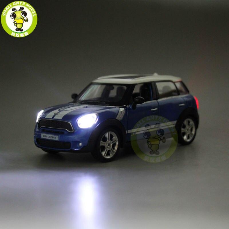 5 дюймов РМЗ City MINI COOPER S Countryman литья под давлением модели автомобиля игрушки для мальчиков и девочек подарок отступить звук освещения
