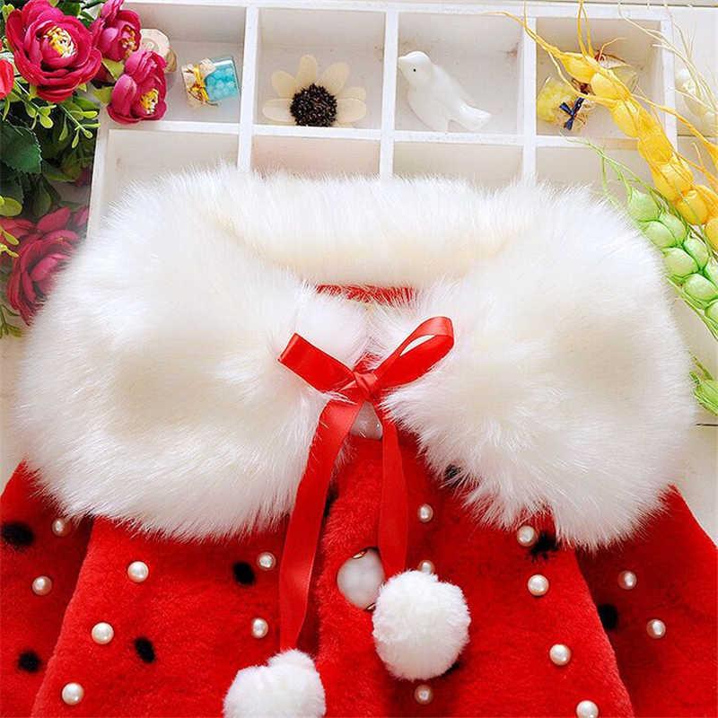 유아 유아 여자의 겨울 가짜 모피 코트 자 켓 2017 여자 겨울 코트 따뜻한 롱 슬리브 여자 옷에 대 한 겉옷