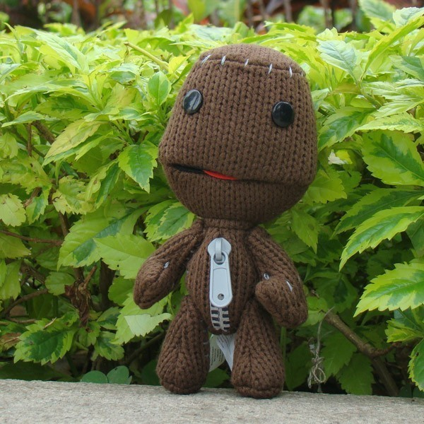 Psp Ps3 Video Game Little Big Planet Plush Toy Sackboy Brown Knitted