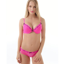 sexy women push up bra set pink color have A/B/C/ cup free shipping свитшот print bar have a cup of stfu