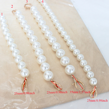 1Pc  Summer New Fashion High Quality Bag Strap Belt Faux Pearl Beaded Design Elegant Women Chain Wholesale Hot Sale