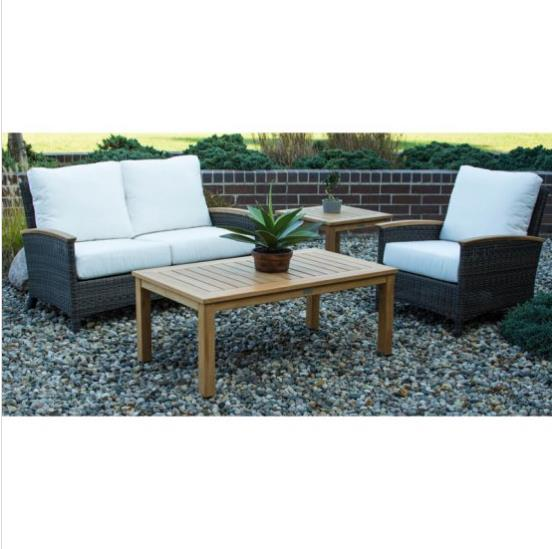 All Weather Garden Chairs Side Chair Tables New Arrival Furniture Small Sofa Rattan Couches For Sale