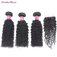 linlin indian human hair afro kinky curly hair 3 bundles weave extension hair bundles hair rollers wigs can dyed Lynlyshan Hair Curly Weave Human Hair Bundles With Closure Brazilian Hair Weave 3 Bundles Natural Black Remy Hair Extensions