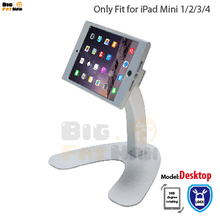 Metal tablet pc stand Holder Mount for iPad mini 1 2 3 4 holder stand 360 rotating desktop Security stand Holder for ipad