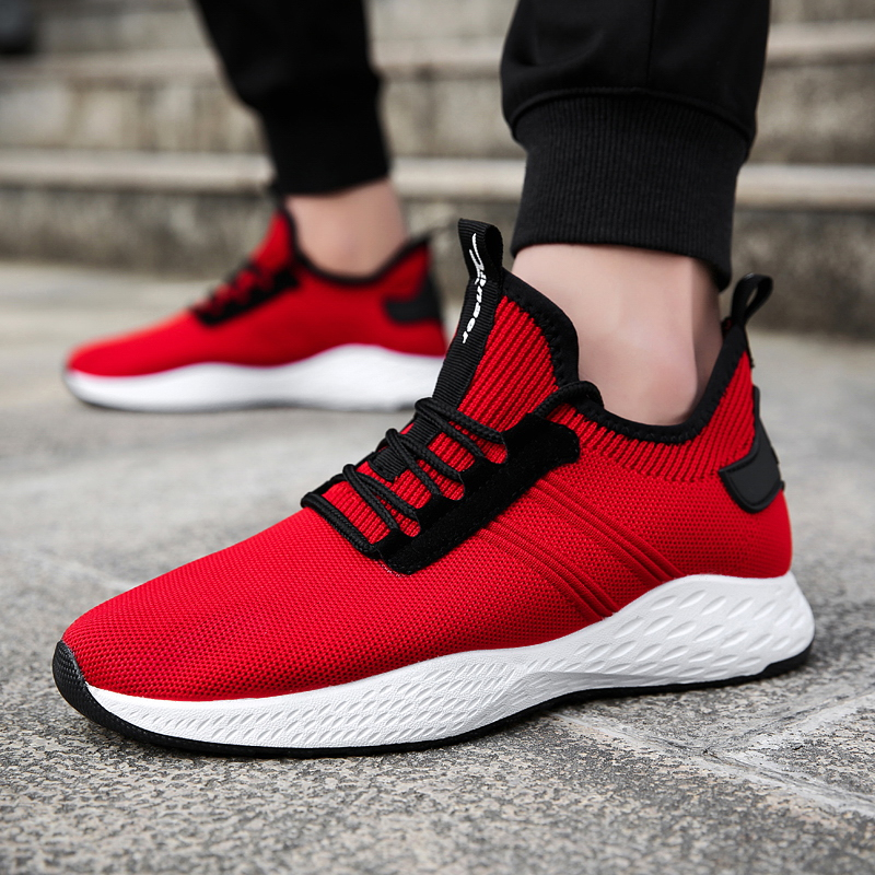 2018 Summer Men Sneakers Breathable Black Mesh Running Shoes Lightweight Sport Shoes Jogging Walking Athletic Shoe