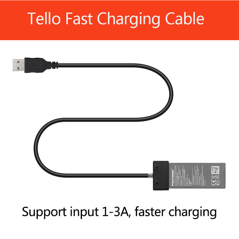 Newest DJI TELLO Battery Charging Cable For TELLO USB Cable Port Battery Fast Charger Cable Drone Accessories original dji tello battery drone tello battery charger charging for dji hub tello flight battery accessories