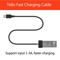 Yeni TELLO Pil şarj kablosu Için DJI TELLO USB kablosu Portu Pil Hızlı şarj aleti kablosu Drone Aksesuarları