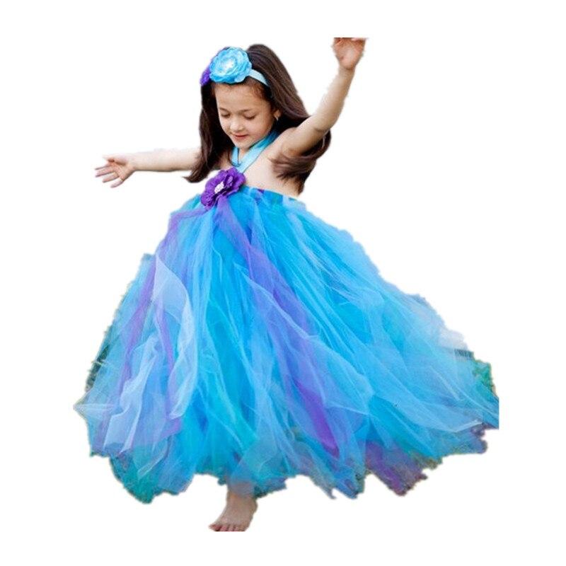 ФОТО BBWOWLIN Handmade NewBorn Baby Flower Girl Dresses Wedding Flowers Tutu Dresses First Communion Dresses 80175