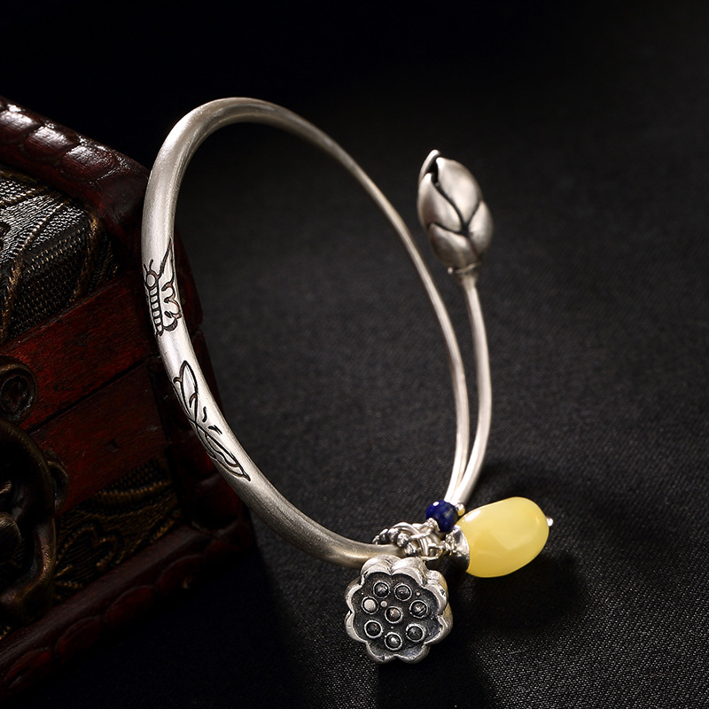 silver restoring ancient ways is dumb light butterfly lotus lotus natural beeswax push-pull ms sterling silver braceletsilver restoring ancient ways is dumb light butterfly lotus lotus natural beeswax push-pull ms sterling silver bracelet