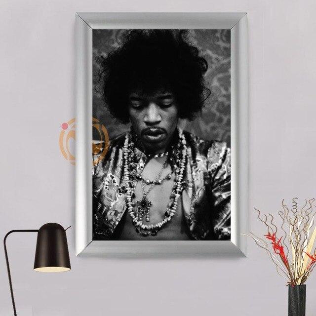 Black and white Jimi Hendrix Custom Frame Painting Canvas Prints ...