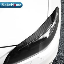 Углеродное волокно фары Брови Веки для BMW F10 5 серии 2010- передняя фара брови Накладка аксессуары