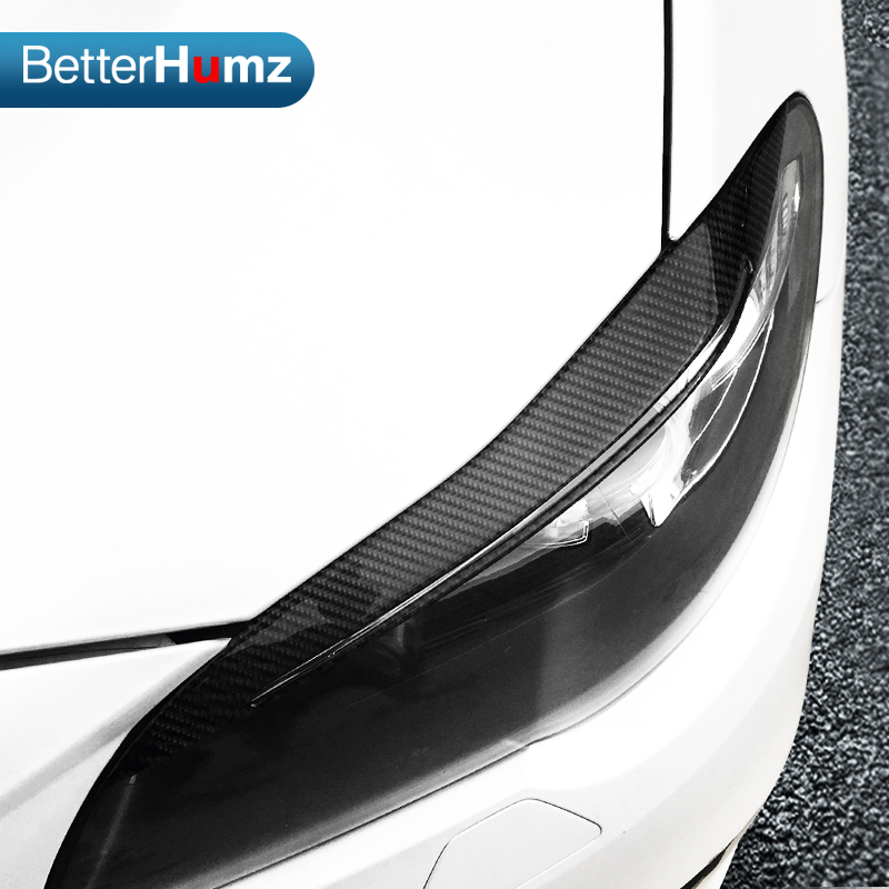 Carbon Fiber Headlights Eyebrows Eyelids for BMW F10 5 Series 2010 2016 Front Headlamp Eyebrows Trim Cover Accessories-in Car Stickers from Automobiles & Motorcycles