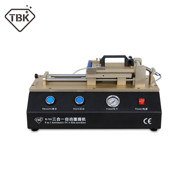 New TBK 765 Arrival 3 in 1 Automatic OCA Laminator Polarizer Film Laminating Machine for iPhone Samsung Refurbished