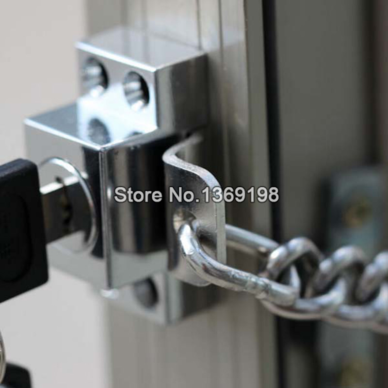 Stainless Steel Window Guard Window Door Restrictor Child Safety Security Chain Lock With Keys Free Shipping CP181 safurance 10x toddler child baby cabinet safety kids child cupboard drawer door lock hot home security safety