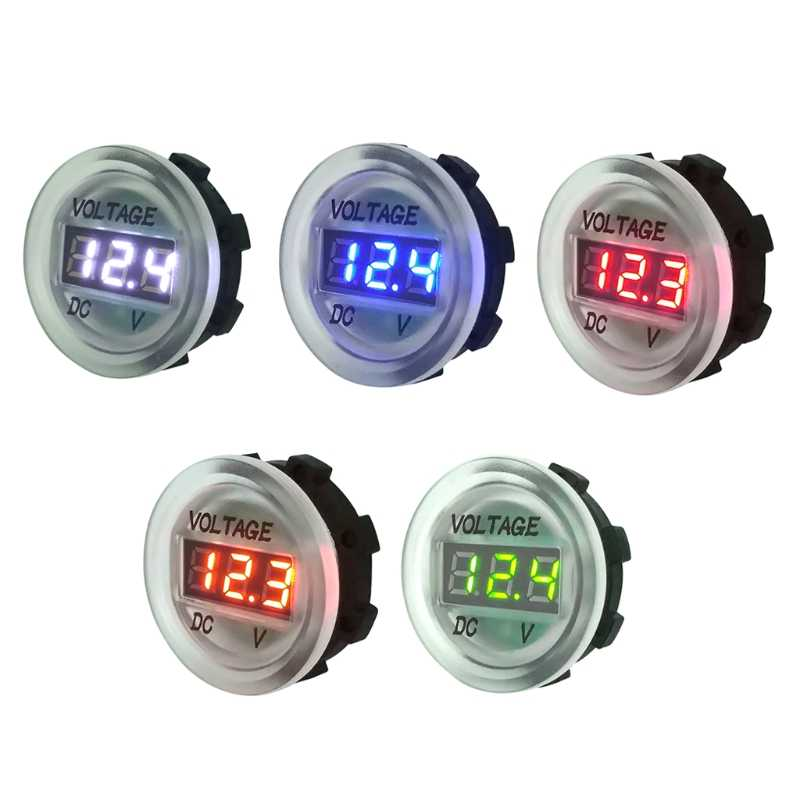 OOTDTY Car Motorcycle DC5V-48V LED Panel Digital Voltage Meter Display Voltmeter Type4