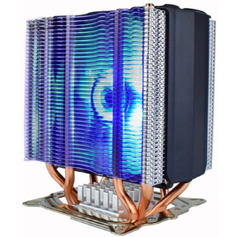 Pccooler S102 Double Tour soutien 3 ventilateur 4pin PWM ventilateur 4 pur heatpipes en cuivre CPu de refroidissement radiateur ventilateur silencieux cooler intel/AMD