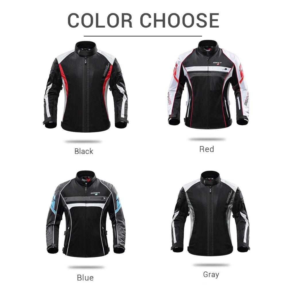 DUHAN 2019 été Moto veste respirant hommes Moto pantalon Moto costume Chaqueta Moto course équitation veste Moto protecteur - 5