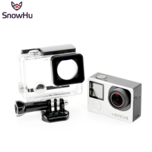 SnowHu for Go pro Accessories for Gopro Waterproof Housing Case Mount Hero 4 3  plus for Gopro Hero 3+ 3 4 Camera Mounting GP248 все цены
