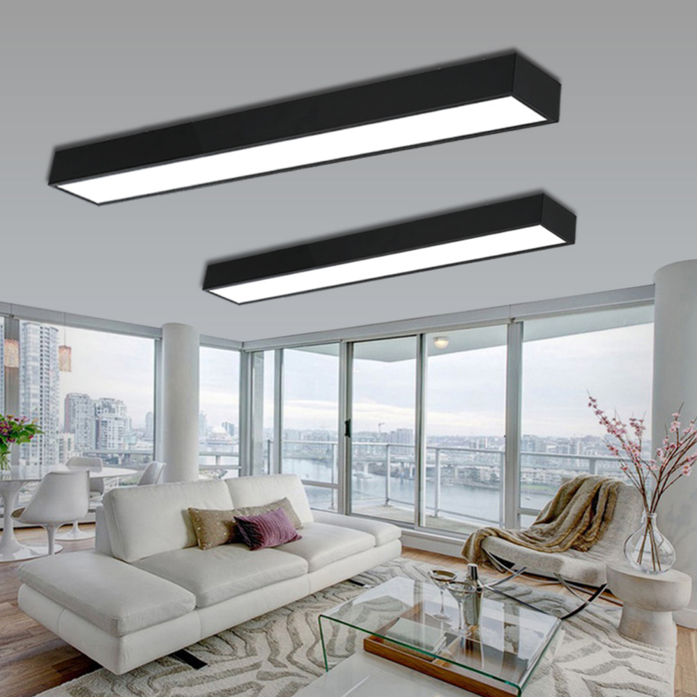 Modern Led Ceiling Light Lamp Lighting Fixture Surface Mount Rectangle Panel Remote Control Office Bedroom Living Room 110v 220v Lights & Lighting