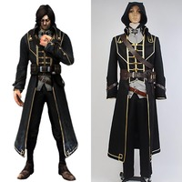 Dishonored Corvo Attano Suit Game Men Halloween Anime Cosplay Costume For Adult Men Full Set