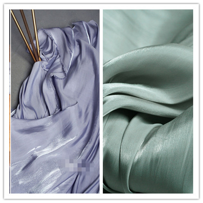 Fabric 50cm*140cm/piece Body Skin Crystal Satin Fabric Dress Fabric Designer Creative Fabrics Can Be Repeatedly Remolded.