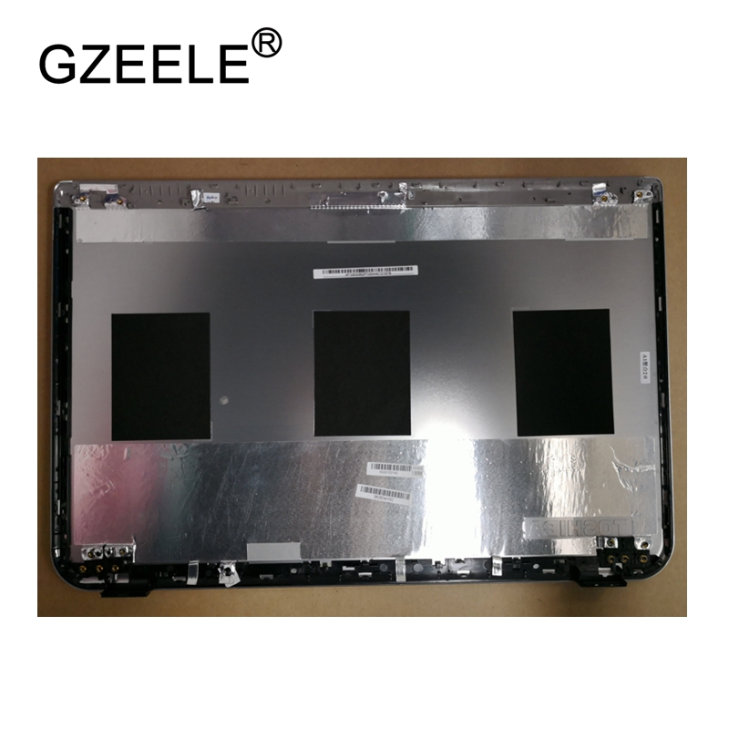 GZEELE New LCD top case Rear Display cover Assembly For Toshiba Satellite M50 M50-A M55 M55-A back cover back shell SILVER new lcd back cover for dell inspiron 15u 5000 5555 5558 5559 v3558 v3559 vostro 355 a shell ap15a000510 ap1g9000300 silvery