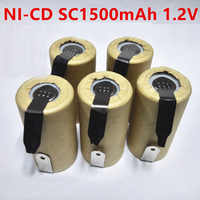 SORAVESS 4/8 PCS 1,2 V Akku SC Batterien 1500 mAh Ni-Cd Ni Cd 3 Mit schweißen Tabs Punkte Für Lade Bohrer Werkzeuge