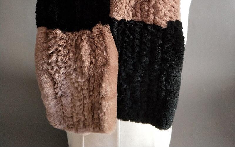 Natural Fur Scarf Women Winter Real Rex Rabbit fur Scarves cachecol bufandas New arrival muffler thermal Soft (8)