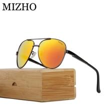 MIZHO Anti-Reflective Eyewear Visual Protection Wood Sunglasses Men Polarized Aviation Waterproof Oil Luxury Glasses Unisex aviation connector gx16 m16 waterproof male