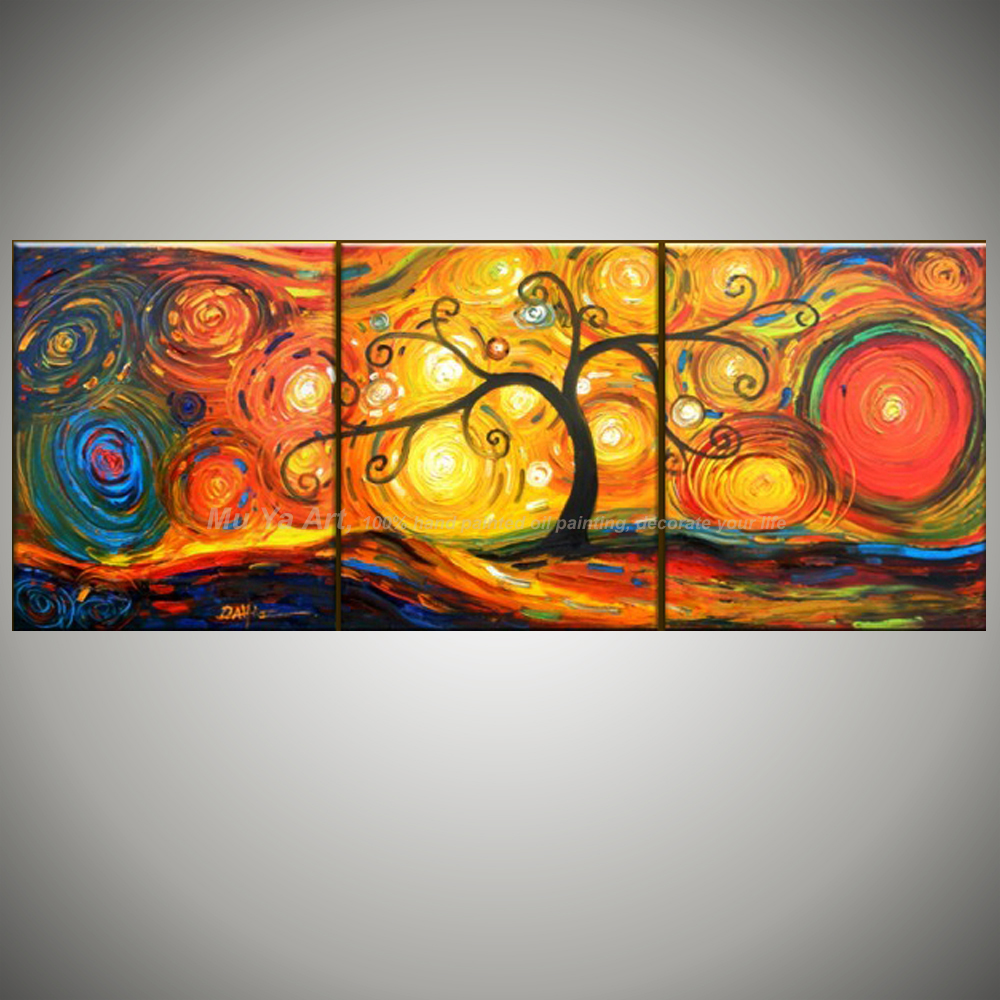 3 Panel Canvas Art Decorative Pictures Acrylic Painting