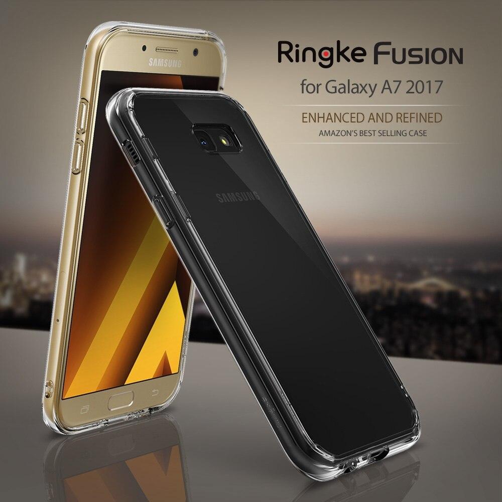 bilder für Ringke Fusion Fall für Galaxy A7 2017 Klare Schwarze Panel Military Grade Tropfen Proof Capa Fundas Fällen für Samsung Galaxy A7 2017