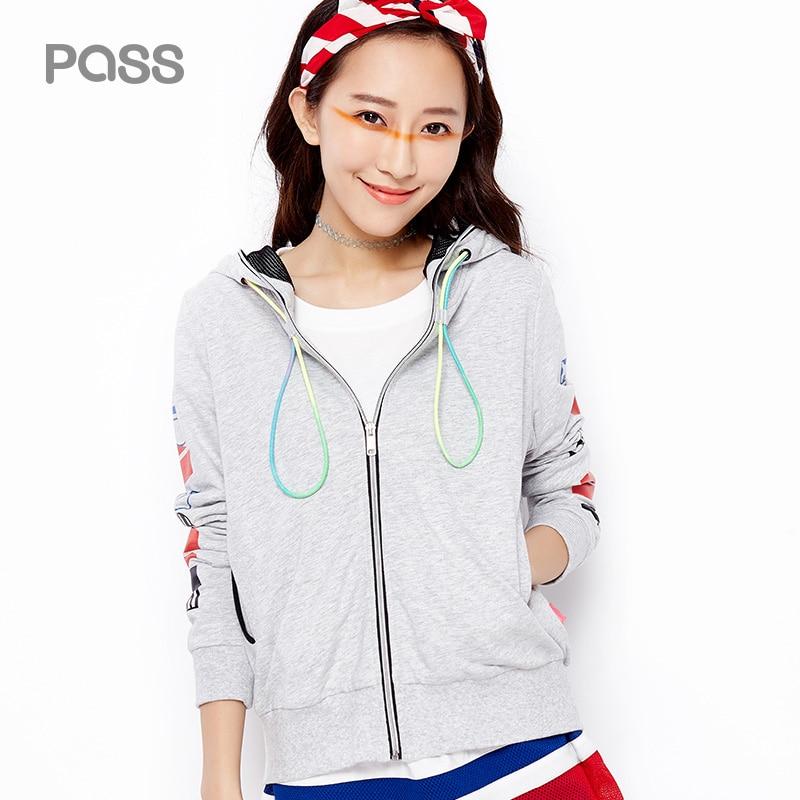 PASS 2017 New Fashion Hoodies font b Jacket b font Female All Match Sportwear Casual Pocket