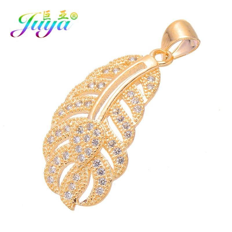 Juya DIY Ювелирные компоненты золото/серебро/розовое золото медальон сердце ключ Подвески и кулоны, аксессуары для женщин модные ювелирные изделия - Окраска металла: Gold