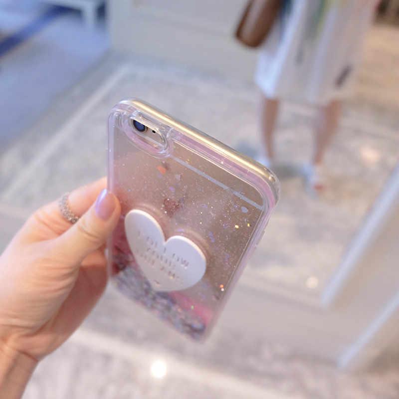 Чехол для телефона для Huawei Honor 7 Чехол 3D; Симпатичные тапочки с узором в виде Мягкий защитный чехол с жидкими блестками изображением Мягкий ТПУ силиконовый чехол для Huawei Honor 7 чехлы на заднюю панель