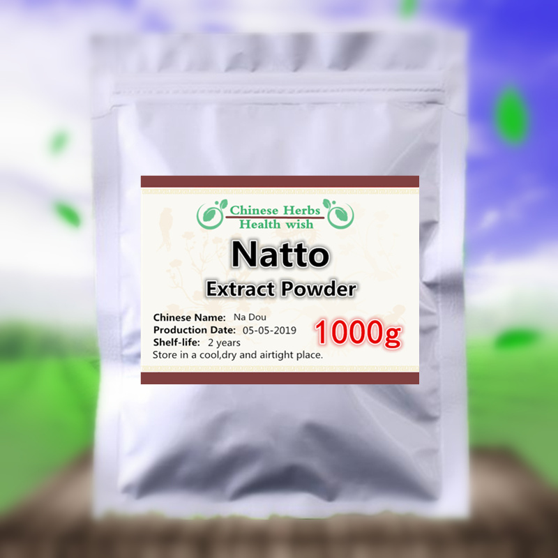 1000g 100% NO-GMO extrato nattokinase em pó, na dou, suplemento nutricional de alta qualidade e alto valor