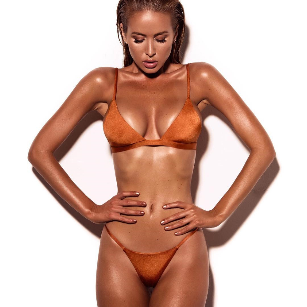 Two pieces Micro Bikini Set Thong Swimwear Women Orange Bikini 2017 Biquini Pink Swimsuit Push Up Brazilian Female Bathing Suit усилитель головы orange micro terror