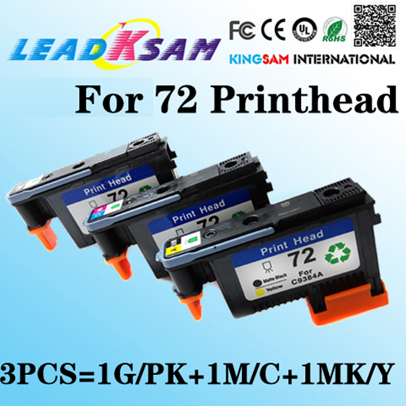 3x Compatible For Hp 72 Printhead For Hp72 C9380a C9383a C9384a Designjet 2300/t610/ T620/t770/t790/t1100/t1120 Print Head