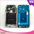 Replacement  Middle Frame Housing Bezel with Home Button Flex Cable for Samsung Galaxy S4 I9505  White / Blue