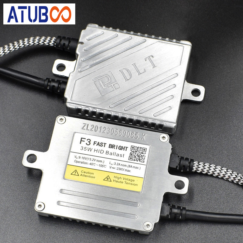 High Quality Original 35W DLT F3 T Ballast 9 16V Premium Fast Start Quick Bright Slim Ballast For Hid Xenon Lamps Bulb in Car Light Accessories from Automobiles Motorcycles
