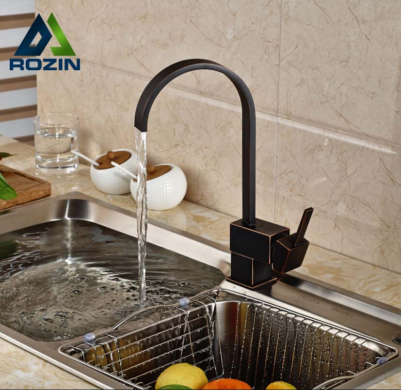 ФОТО Newly Waterfall Kitchen Basin Vessel Sink Faucet One Handle Brass Rotation Bathroom Mixer Tap Deck Mounted