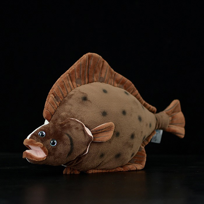 40cm Simulation Flounder Stuffed Toys Sea Animals Plush Toy Soft Flatfish Plush Dolls For Children Gifts