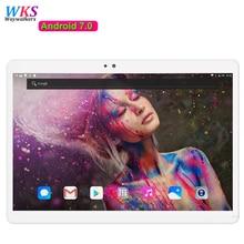 Envío libre de DHL 10 pulgadas tablet PC Android 7.0 10 core 4G LTE RAM 4 GB ROM 64 GB Dual SIM Card bluetooth tabletas 10 10.1 + regalos
