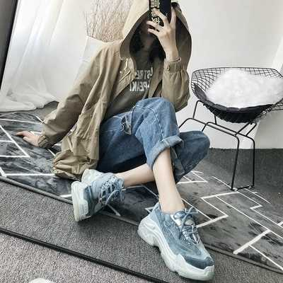 5d4f1297972 New Fashion Sneaker Women Breathable Sport Casual Shoes Woman Bordered  Platform Sneakers Walking Tennis Shoes Women trainers