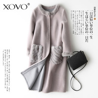 Mouton Coats Jacket Natural Coat with Fur Winter Jackets for Women Fur Leather Coats with Fur Jacket
