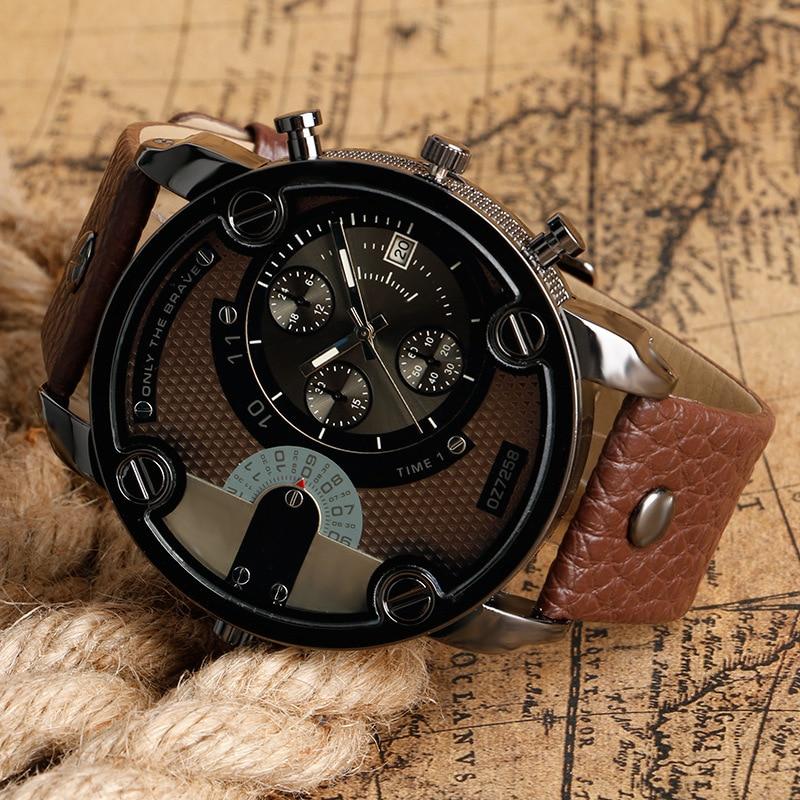 Onthelevel Men's Watch Fashion Big Dial Steel Belt Watch Sports Universial Watchband Watch Men's Wrist Watch Clock 2018 New