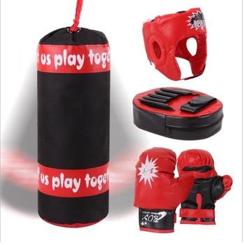 Dziecięce rękawice bokserskie worki z piaskiem ręczne zestawy nakrycia głowy dla dzieci sporty treningowe zestaw do fitnessu tanie i dobre opinie Dziecko YT2149
