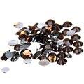 Café oscuro Flatback Rhinestones de la Resina 1000 unids 2-5mm Ronda para no Glue Hotfix En Cristales Y Piedras Para arte de Uñas Decoración Del Arte