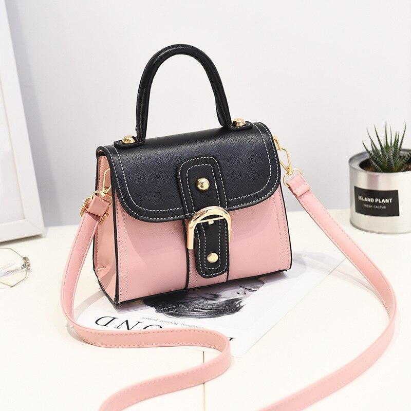 Ladies Bags 2018 Spring New Explosion Fashion Shoulder Bag panelled Handbag, Japan Style Doctor bag crossbody bag