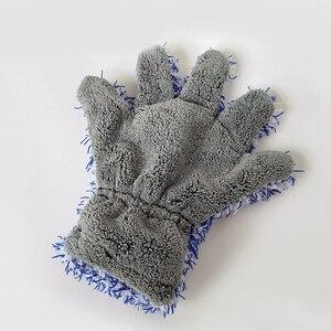 Image 5 - 30x27.5cm yüksek yoğunluklu mikrofiber araba yıkama temizleyici eldiveni maksimum emici eldiven Premium araba temizlik eldiveni araba bakımı detaylandırma